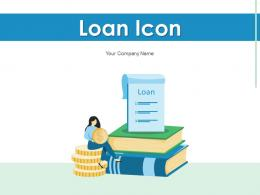 Loan Icon Target Employees Executive Evaluating Customer Management