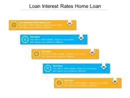 Loan Interest Rates Home Loan Ppt Powerpoint Presentation Layouts Visual Aids Cpb
