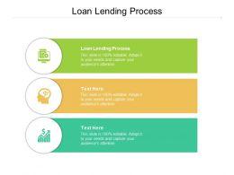 Loan Lending Process Ppt Powerpoint Presentation Portfolio Format Ideas Cpb