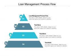 Loan Management Process Flow Ppt Powerpoint Presentation Ideas Information Cpb