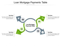 Loan Mortgage Payments Table Ppt Powerpoint Presentation Inspiration Clipart Cpb