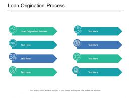 Loan Origination Process Ppt Powerpoint Presentation Model Cpb