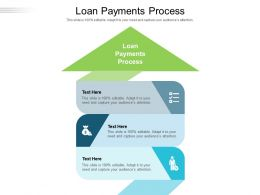 Loan Payments Process Ppt Powerpoint Presentation Ideas Layouts Cpb