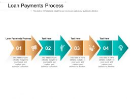 Loan Payments Process Ppt Powerpoint Presentation Pictures Show Cpb