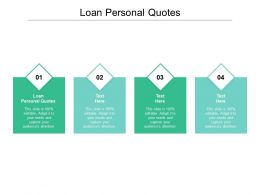 Loan Personal Quotes Ppt Powerpoint Presentation Icon Good Cpb