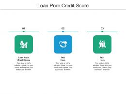 Loan Poor Credit Score Ppt Powerpoint Presentation Model Graphics Tutorials Cpb