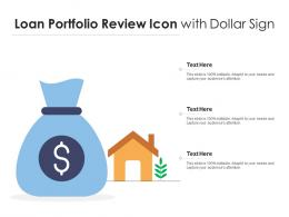 Loan Portfolio Review Icon With Dollar Sign