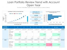 Loan Portfolio Review Trend With Account Open Year