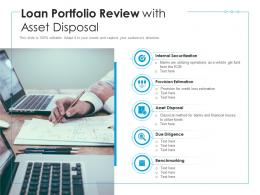 Loan Portfolio Review With Asset Disposal