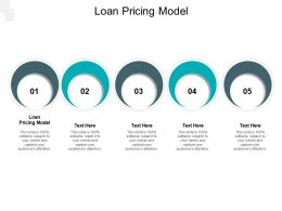 Loan Pricing Model Ppt Powerpoint Presentation Inspiration Picture Cpb