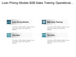 Loan Pricing Models B2b Sales Training Operational Analytics Cpb