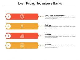 Loan Pricing Techniques Banks Ppt Powerpoint Presentation Slides Layout Ideas Cpb