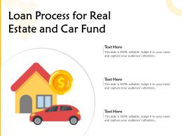 Loan Process For Real Estate And Car Fund