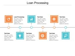 Loan Processing Ppt Powerpoint Presentation Professional Deck Cpb