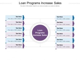 Loan Programs Increase Sales Ppt Powerpoint Presentation Infographics Professional Cpb