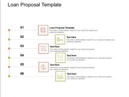 Loan Proposal Template Ppt Powerpoint Presentation Infographics Microsoft Cpb