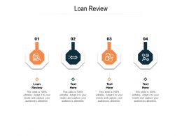 Loan Review Ppt Powerpoint Presentation Slides Shapes Cpb