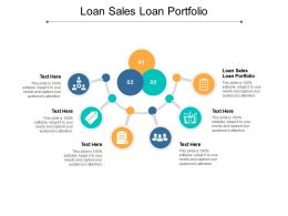 Loan Sales Loan Portfolio Ppt Powerpoint Presentation Infographics Mockup Cpb