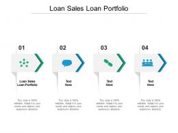 Loan Sales Loan Portfolio Ppt Powerpoint Presentation Layouts Icons Cpb