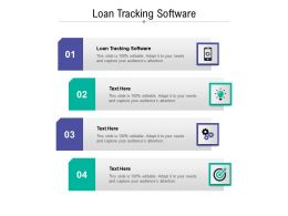 Loan Tracking Software Ppt Powerpoint Presentation Styles Graphics Cpb