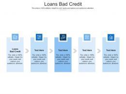 Loans Bad Credit Ppt Powerpoint Presentation Slides Design Templates Cpb
