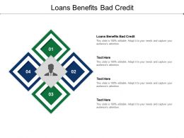 Loans Benefits Bad Credit Ppt Powerpoint Presentation Styles Sample Cpb