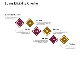 Loans Eligibility Checker Ppt Powerpoint Presentation Icon Guide Cpb