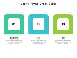 Loans For Paying Credit Cards Ppt Powerpoint Presentation Icon Slideshow Cpb