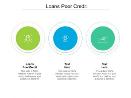 Loans Poor Credit Ppt Powerpoint Presentation Gallery Inspiration Cpb