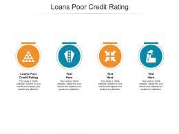 Loans Poor Credit Rating Ppt Powerpoint Presentation Portfolio Visuals Cpb