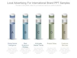 Local Advertising For International Brand Ppt Samples
