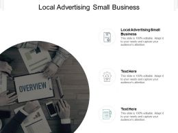 Local Advertising Small Business Ppt Powerpoint Presentation Summary Slide Cpb