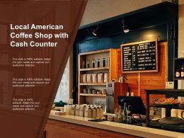 Local American Coffee Shop With Cash Counter