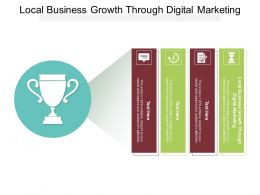 Local Business Growth Through Digital Marketing Ppt Powerpoint Model Deck Cpb