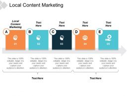 Local Content Marketing Ppt Powerpoint Presentation Inspiration Skills Cpb