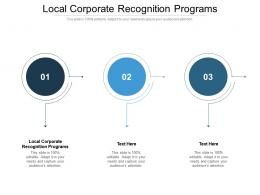 Local Corporate Recognition Programs Ppt Powerpoint Presentation Gallery Cpb