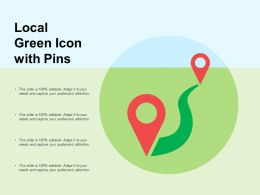 Local Green Icon With Pins
