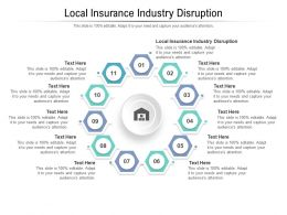 Local Insurance Industry Disruption Ppt Powerpoint Presentation Inspiration Show Cpb