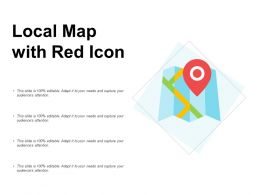 Local Map With Red Icon