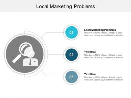 Local Marketing Problems Ppt Powerpoint Presentation Styles Inspiration Cpb