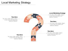Local Marketing Strategy Ppt Powerpoint Presentation Gallery Visual Aids Cpb