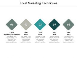 Local Marketing Techniques Ppt Powerpoint Presentation Ideas Example Introduction Cpb