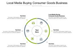 Local Media Buying Consumer Goods Business Ppt Powerpoint Presentation Infographics Rules Cpb