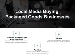 Local Media Buying Packaged Goods Businesses Ppt Powerpoint Presentation File Sample Cpb