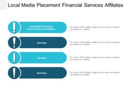 Local Media Placement Financial Services Affiliates Ppt Powerpoint Presentation Themes Cpb