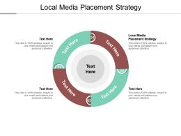 Local Media Placement Strategy Ppt Powerpoint Presentation Summary Maker Cpb