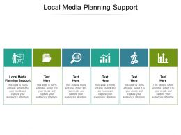 Local Media Planning Support Ppt Powerpoint Presentation Outline Design Inspiration Cpb