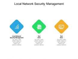 Local Network Security Management Ppt Powerpoint Presentation File Design Ideas Cpb