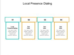 Local Presence Dialing Ppt Powerpoint Presentation Ideas Graphics Pictures Cpb