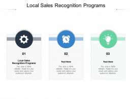 Local Sales Recognition Programs Ppt Powerpoint Presentation File Aids Cpb